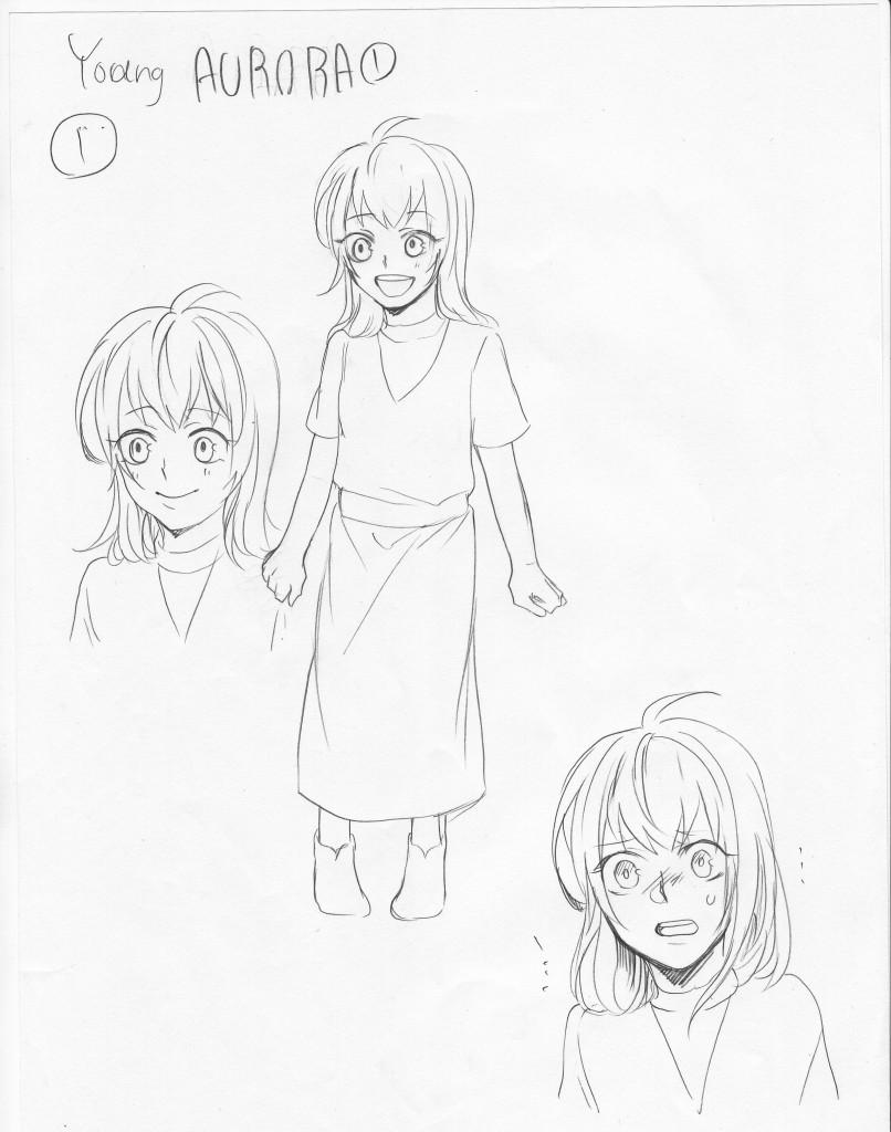 Young Aurora Sketch